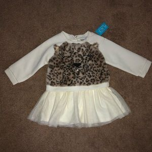 NWT kitty sweater dress with tutu